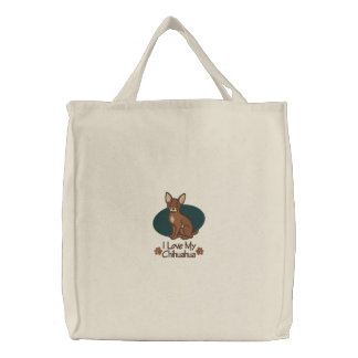 Love Chihuahua Embroidered Bag