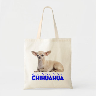 Love Chihuahua Puppy Dog Blue Heart Tote Bag