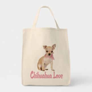 Love Chihuahua Puppy Dog  Canvas Tote Bag