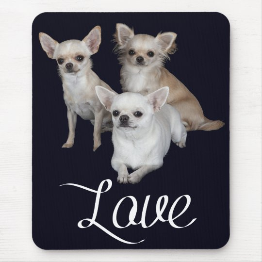 Love Chihuahua Puppy Dog Mousepad