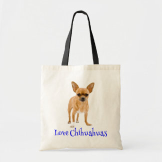 Love Chihuahua Puppy Dog Tote Bag
