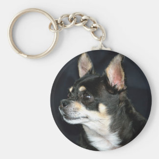 Love Chihuahuas Basic Round Button Key Ring