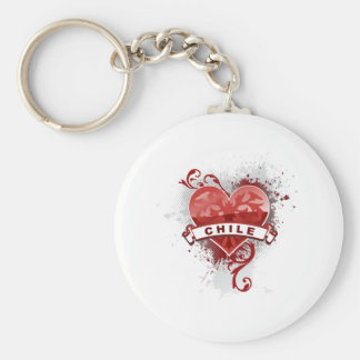 Love Chile Basic Round Button Key Ring