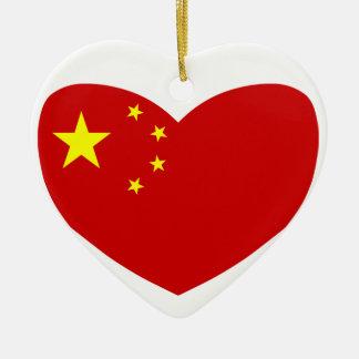 Love China Ceramic Heart Decoration