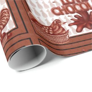 LOVE CHOCOLAT CUTE CARTOON Wrapping Paper