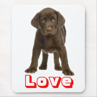 Love Chocolate Brown Labrador Retriever Puppy Dog Mouse Mat