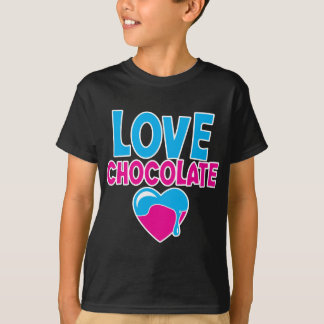 LOVE CHOCOLATE! with dripping heart T-shirt