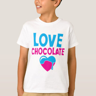 LOVE CHOCOLATE! with dripping heart T-shirts