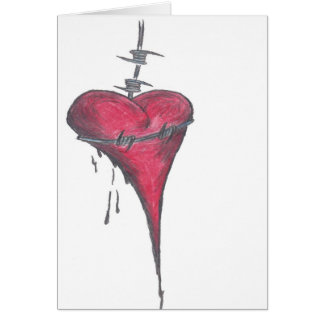 Love Choked White Greeting Cards