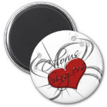 Love Chorus Singers Heart 6 Cm Round Magnet