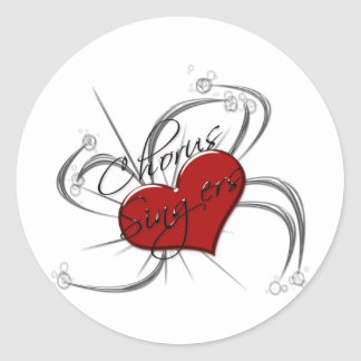 Love Chorus Singers Heart Classic Round Sticker
