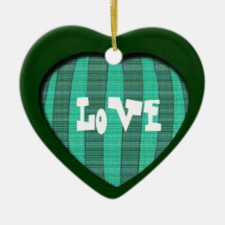 Love Christmas Ceramic Heart Decoration