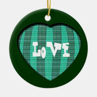 Love Christmas Round Ceramic Decoration