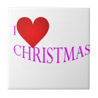 Love Christmas Small Square Tile