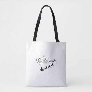 LOVE CHRISTMAS TOTE BAG#holidayZ