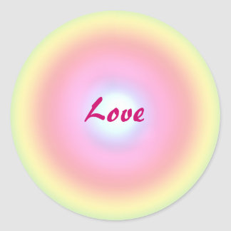Love Circle Round Sticker