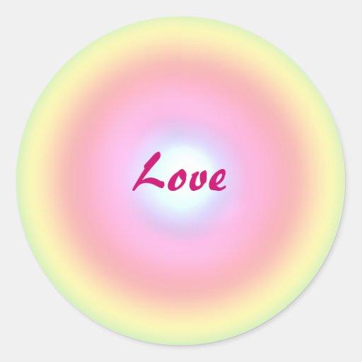 Love Circle Round Stickers