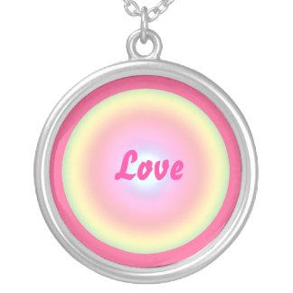 Love Circle Valentine Round Pendant Necklace