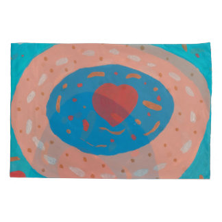 Love Circles Single Pillowcase, Standard Size Pillowcase