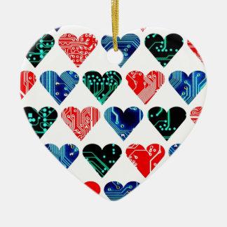 love circuit, Colors set 1 Ceramic Heart Decoration