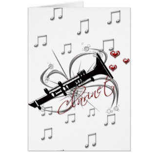 Love Clarinet Card