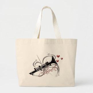 Love Clarinet Large Tote Bag