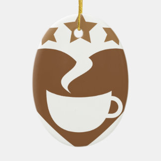 Love coffee christmas ornament