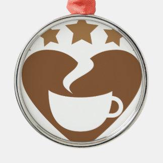 Love coffee christmas ornament