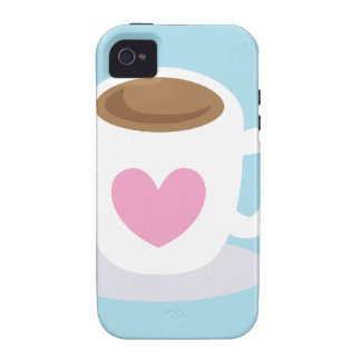 LOVE COFFEE coffee cup with a love heart iPhone 4 Cases