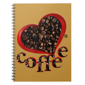 Love Coffee Food Decorative Modern Notebook