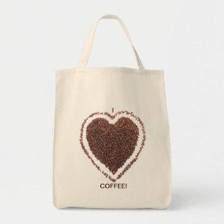 Love Coffee Grocery Tote Bag