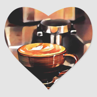 Love Coffee Heart Sticker