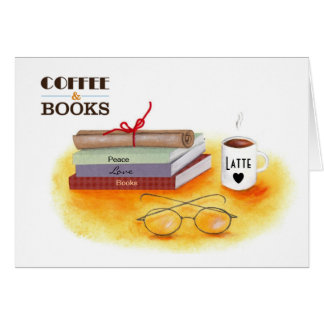 """""""Love Coffee Love Books Note Cards"""" Card"""