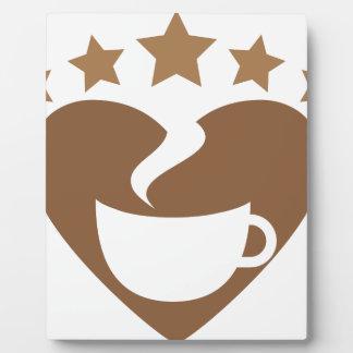 Love coffee plaque