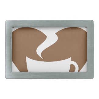 Love coffee rectangular belt buckle