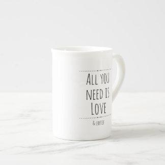 Love & Coffee Tea Cup