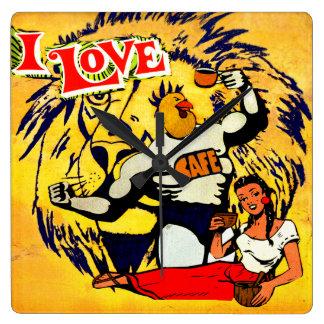 love coffee wallclock