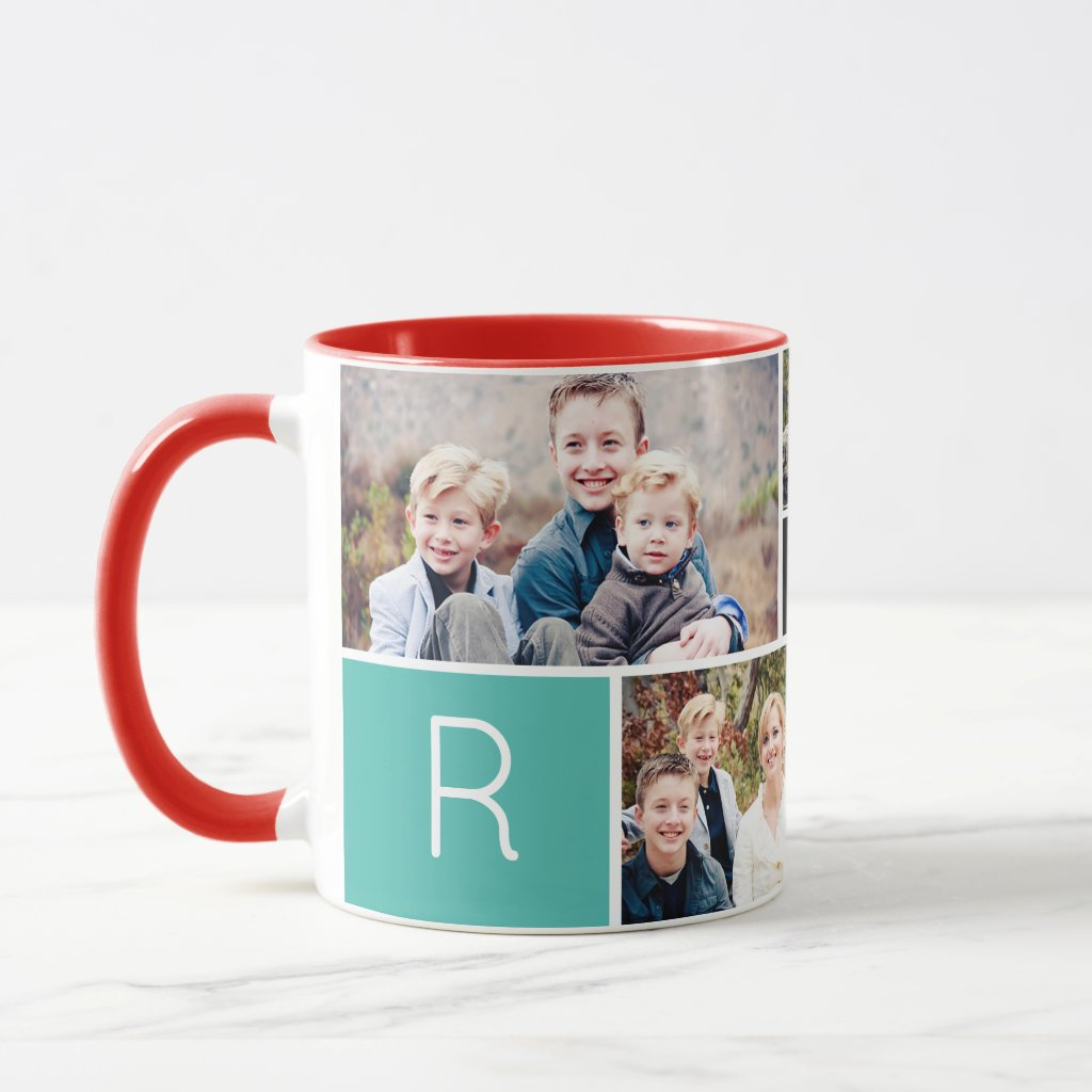 Love Collage Photo Mug