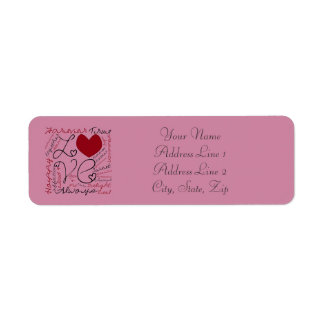 Love Collage - Personalize Return Address Label