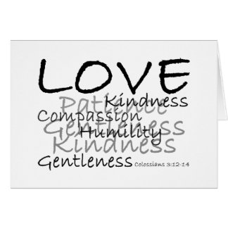 Love (Colossians 3) Card