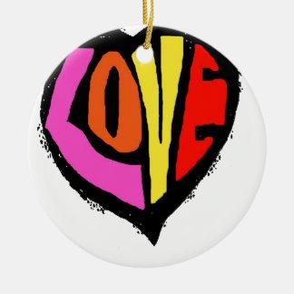 LOVE COLOUR ROUND CERAMIC DECORATION