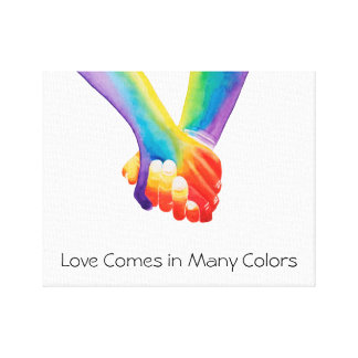 Love Comes in Many Colours Canvas Print