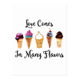 Love Comes In Many Flavors Postcard