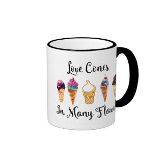 Love Comes In Many Flavors Ringer Mug