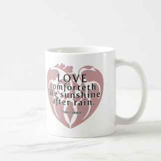 Love Comforteth Like Sunshine - Shakespeare Quote Basic White Mug