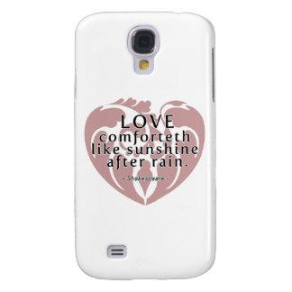 Love Comforteth Like Sunshine - Shakespeare Quote Galaxy S4 Case