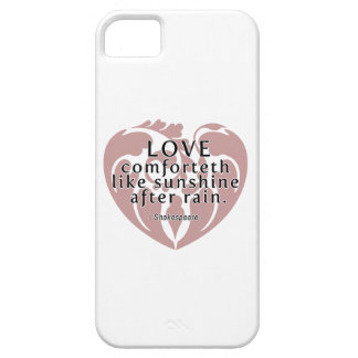 Love Comforteth Like Sunshine - Shakespeare Quote iPhone 5 Case