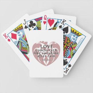 Love Comforteth Like Sunshine - Shakespeare Quote Poker Cards