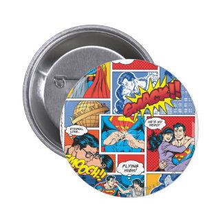 Love Comic Slides - Color 6 Cm Round Badge