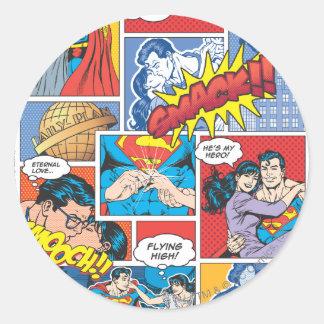 Love Comic Slides - Color Round Sticker